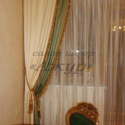 Классические шторы с бахромой