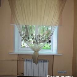 Классическая штора с рулонной шторой