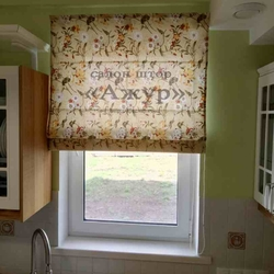 Римская штора с цветами
