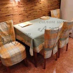 Скатерть, чехлы на стулья и салфетки