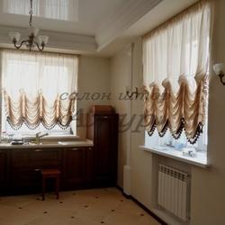 Австрийские шторы с бахромой