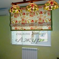 Римская штора с отделкой