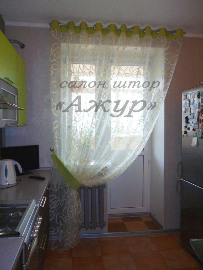 дизайн тюли для кухни фото