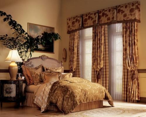 шторы и покрывало в спальню