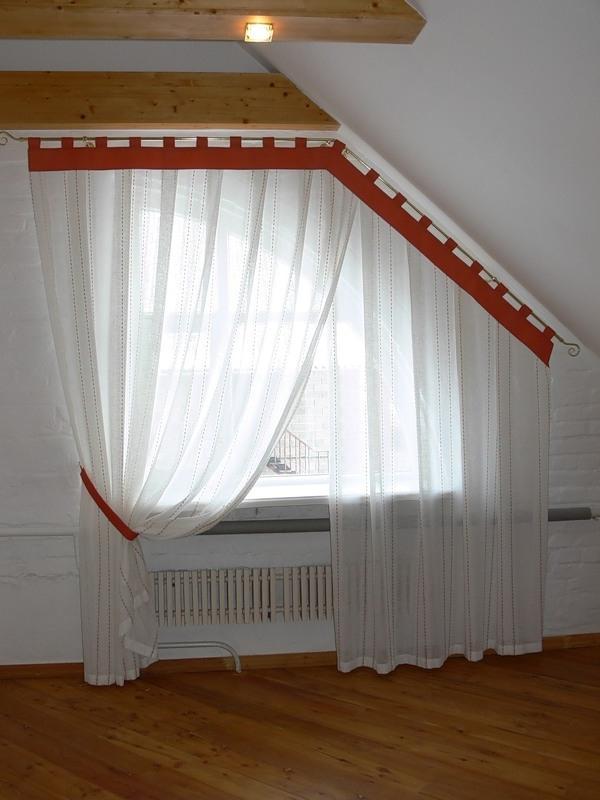 Как сшить шторы на окно со скосом